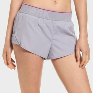 IVY PARK Grey Perforated Panel Runner Shorts